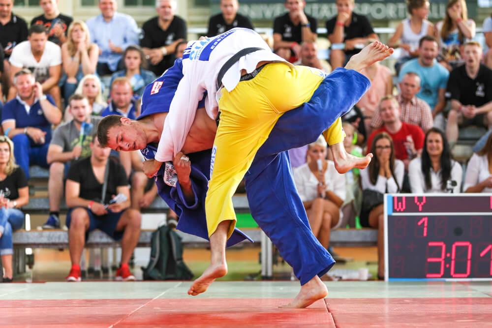 Judokas auf der Matte