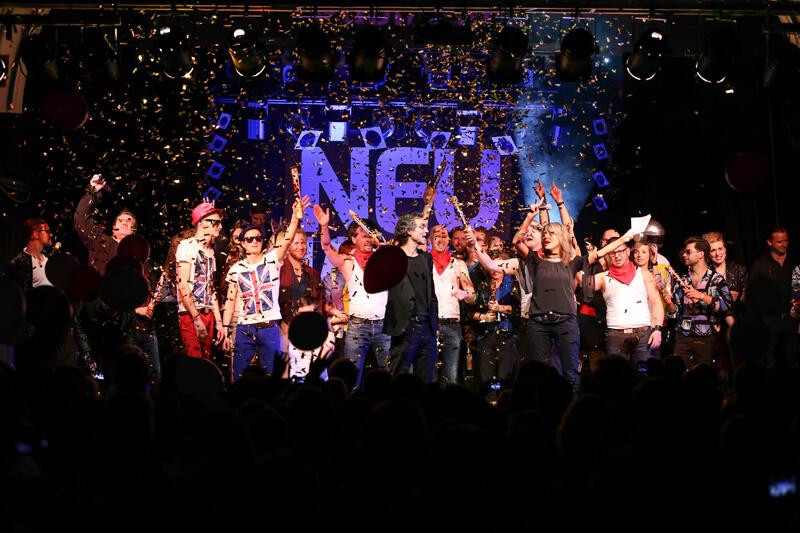 Bühne des Neujahressingen 2014