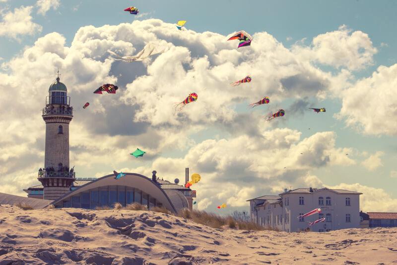 Drachen am Warnemünder Strand
