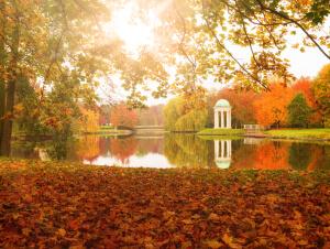 Agra Park im Herbst