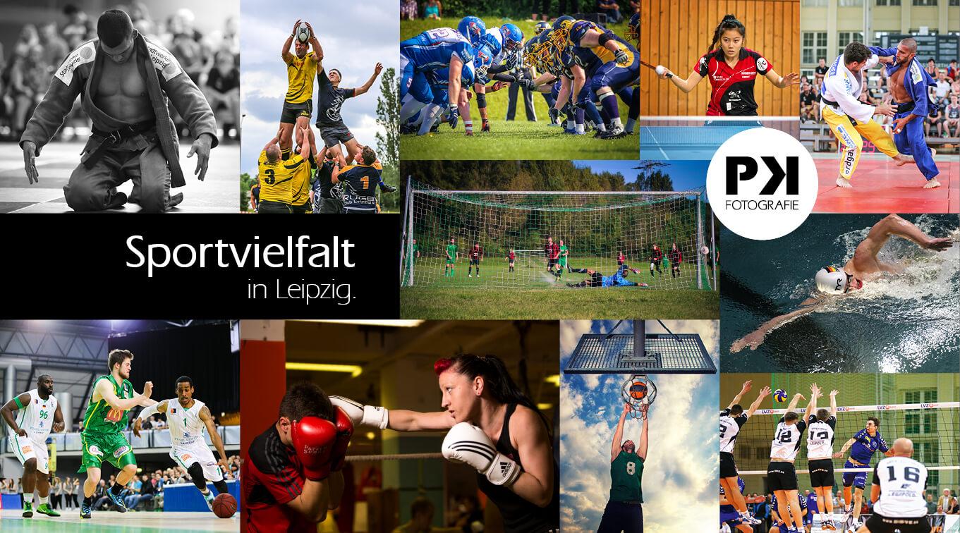 Collage von Sportbildern