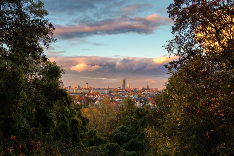 Leipziger Skyline vom Fockeberg