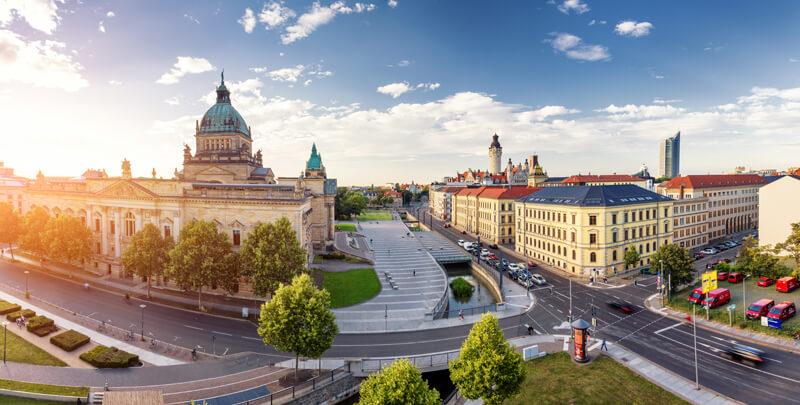 Leipziger Skyline als Panorama