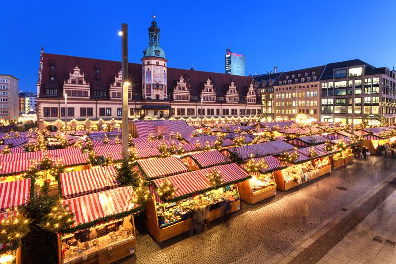 Leipzig Weihnachtsmarkt Marktplatz